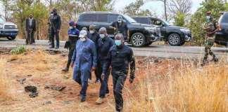 Accident des journalistes de Leral www.kafunel.com Macky Sall s'est rendu sur les lieux du drame