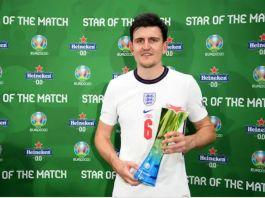 Harry Maguire, élu homme du match - UEFA EURO 2020 - KAFUNEL.com - www.kafunel.com Capture