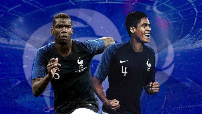 Raphaël Varane et Paul Pogba ont mené les Bleus vers la victoire. (S. Mantey L'Équipe)