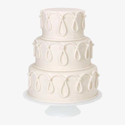 Hvid fondant kage fra Wilton