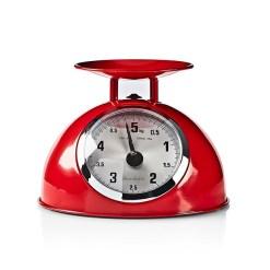 Rød retro køkkenvægt