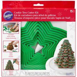 Juletræ udstikkersæt m. tyller og sprøjteposer - Wilton