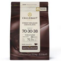 Callebaut Chokolade ekstra mørk, 2,5 kg – (70,5%)