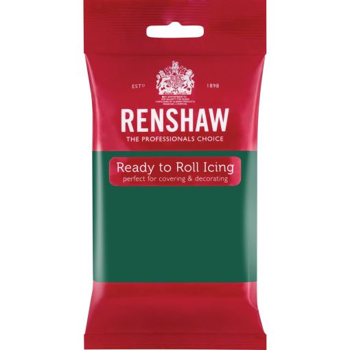 Fondant Smaragdgrøn, 250 g - Renshaw