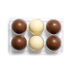 Halvkugle Ø7,5 cm – Polycarbonat Chokoladeform - Decora