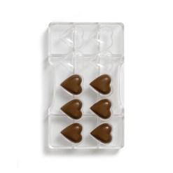 Klassiske Hjerter – Polycarbonat Chokoladeform - Decora