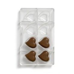 Moderne Hjerte – Polycarbonat Chokoladeform - Decora