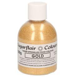 Sukkerkrystaller Guld, 100 g - Sugarflair