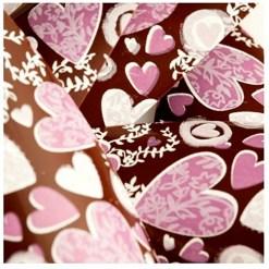 Chokoladefolie / Transfer Sheet Hjerter