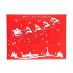 Lav selv julekalender æske, 24 låger - Slæde