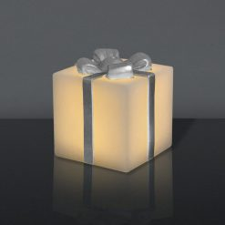 LED Gave med sølv sløjfe (Stor)