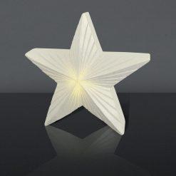 LED Julestjerne i hvid 18cm
