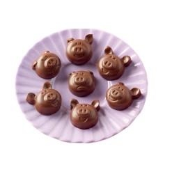 Silikone Chokoladeform Choco Pigs - Silikomart