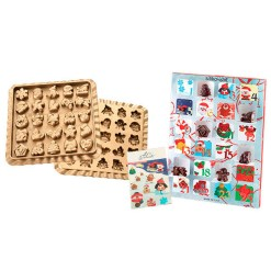 Silikoneform Chokolade Julekalender - Silikomart