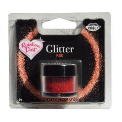 Spiseligt Glimmer Rød, 5 g - Rainbow Dust