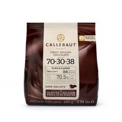 Callebaut Chokolade ekstra mørk, 400 g – (70,5%)