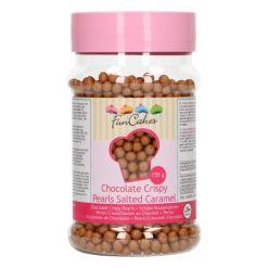 Crispy Chokoladeperler Saltet karamel, 155g - FunCakes