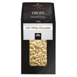 Valrhona chokolade, Drops Hvid 24% 200g