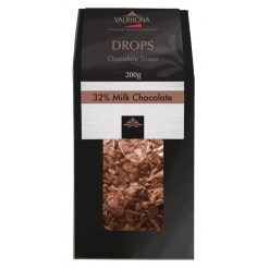 Valrhona chokolade, Drops Lait – 32%, 200 g