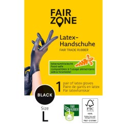 1 stk. Latex Handsker Str. L - Fair Zone