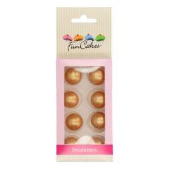 Chokoladekugler Guld 8 stk. - FunCakes