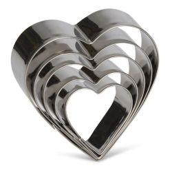Hjerte udstikkersæt 5 dele - Patisse