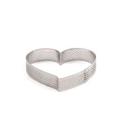Perforeret Hjerte Tærtering Ø10cm - Decora