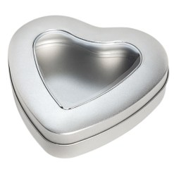 Chokoladeæske / dåse hjerte med vindue