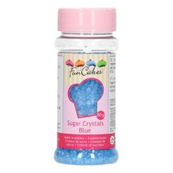 Farvet Sukker Blå 80g - FunCakes