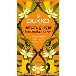 Pukka Te Lemon, Ginger & Manuka Honey Økologisk - 20 breve