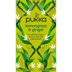 Pukka Te Lemongrass & Ginger Økologisk - 20 breve