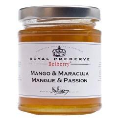 Mango/Passionsfrugt marmelade ekstra 215g - Belberry