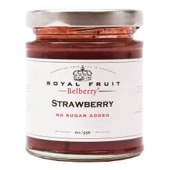 Jordbærmarmelade uden tilsat sukker 215g - Belberry