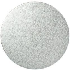 Sølv kagepap 30 cm – Rund