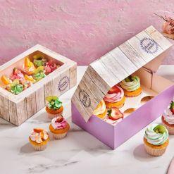 Kageboks til 6 Cupcakes, Pure – 3 stk., Funcakes