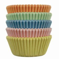 Pastel Mini muffinsforme i papir 100 stk., PME