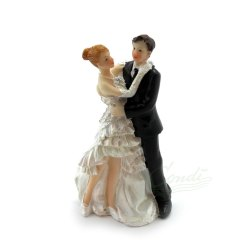 Topfigur til bryllupskage, brudepar 11,5cm