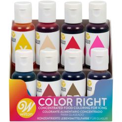 Wilton Color Right Food Color sæt, 8 farver