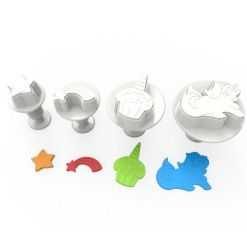 Mini Plungers / Udstikker Unicorn 4 stk. - Dekofee