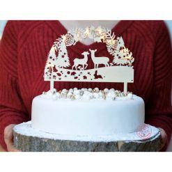 Woodland Cake Topper LED - Scrapcooking