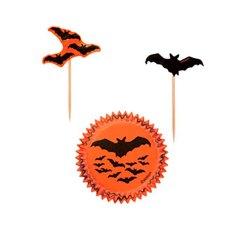Halloween muffinsforme vampyr m. kageflag 24 stk. - Wilton
