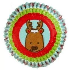 Jul mini muffinsforme Rensdyr 100 stk. - Wilton
