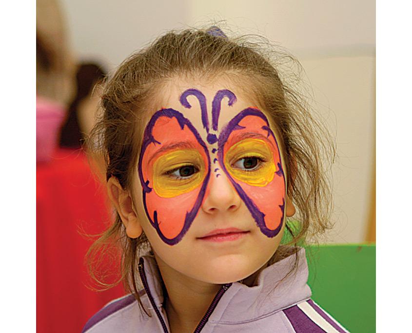 Yüz Boyama Kelebek Projedenizi