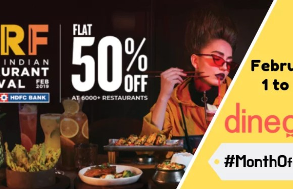 GIRF by Dineout is Back! Grab Flat 50% off on Food & Drinks