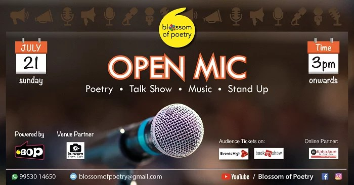 Open Mic at Gurgaon by Blossom of Poetry