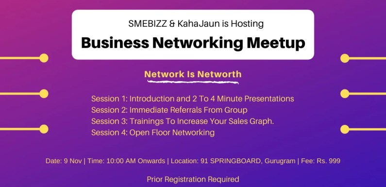 SMEBIZZ Business Networking Meetup Conclave on 9th Nov2019