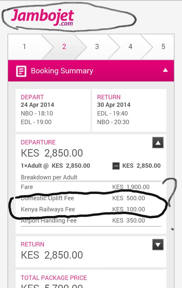 Kenya Railways Fee