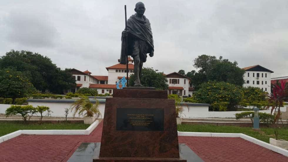 Ghana university removes Gandhi statue
