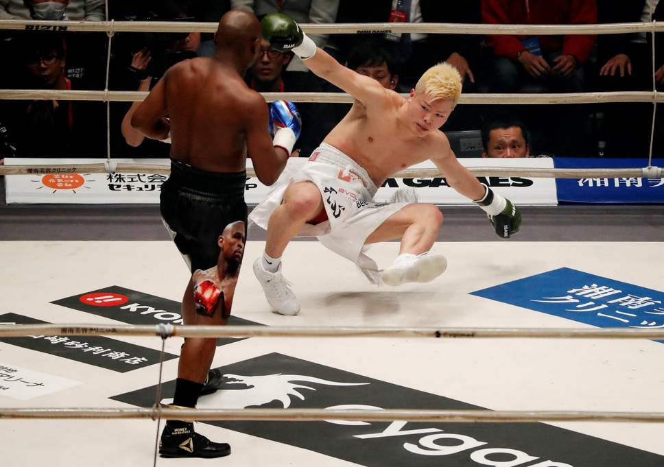 Floyd Mayweather's Instagram post after beating Tenshin Nasukawa has caused a stir