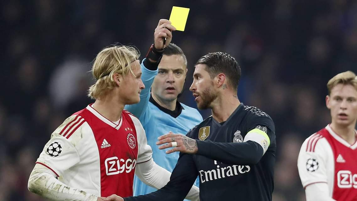 Sergio Ramos banned additional European match for yellow card